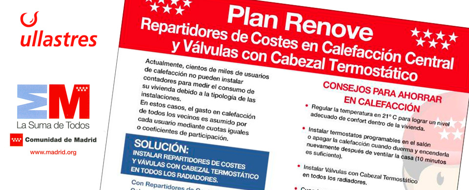 Plan renove repartidores de costes