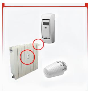 Fácil instalación de los repartidores de costes de calefacción