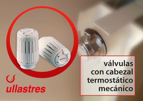 Las válvulas de cabezal termostático mecanizado le permiten controlar la temperatura de la calefacción