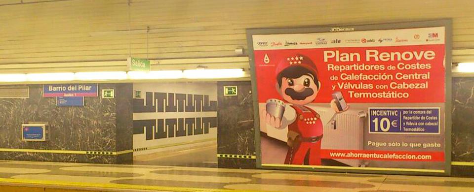 Plan Renove Metro de Madrid Repartidores de Costes de Calefacción